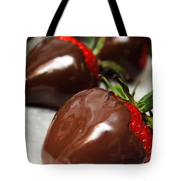 Chocolate Covered Strawberries Tote Bag by Andee Design