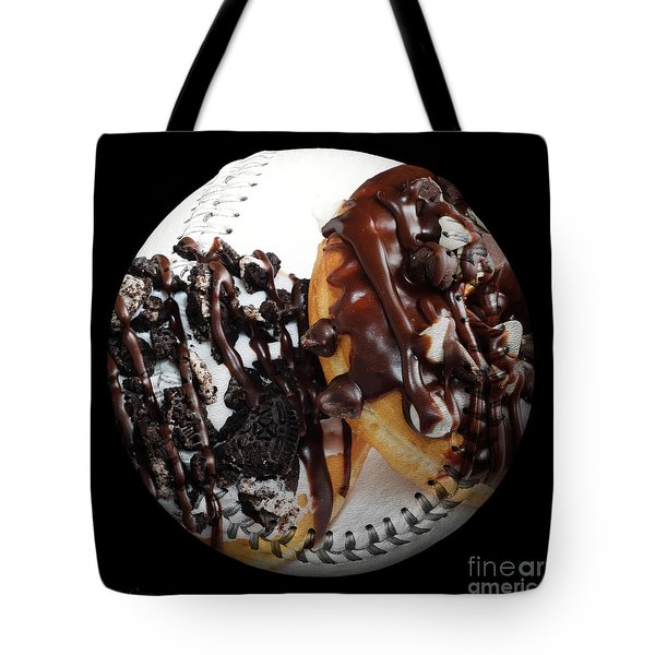 Chocolate Donuts Baseball Square Tote Bag by Andee Design