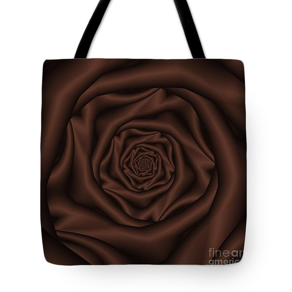 Chocolate Rose Spiral Tote Bag by Colin  Forrest