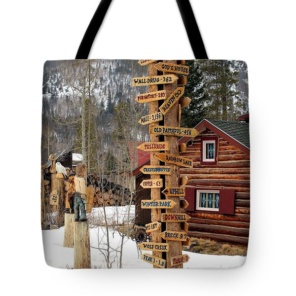 Choose Your Direction Tote Bag by Fiona Kennard