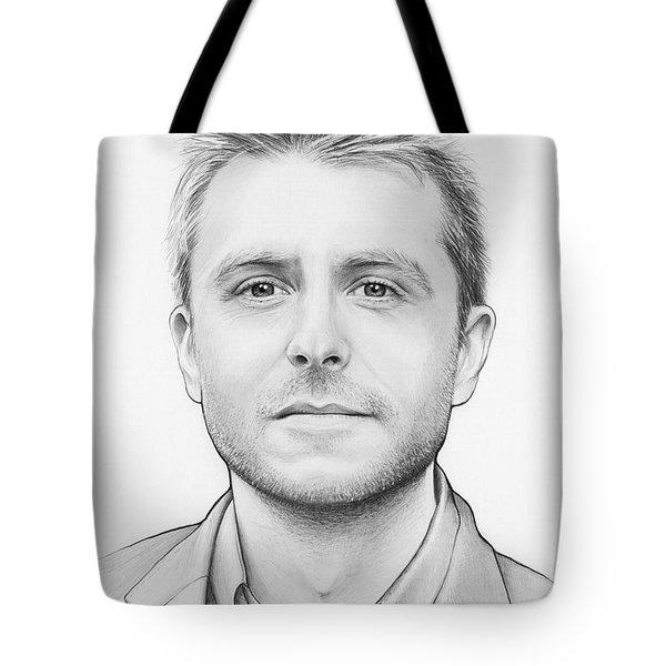 Chris Hardwick Tote Bag by Olga Shvartsur