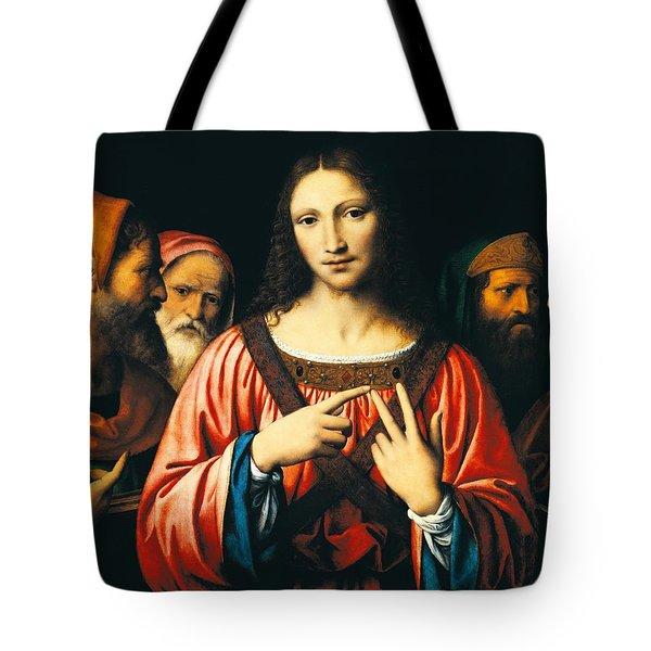 Christ Among The Doctors Tote Bag by Bernardino Luini