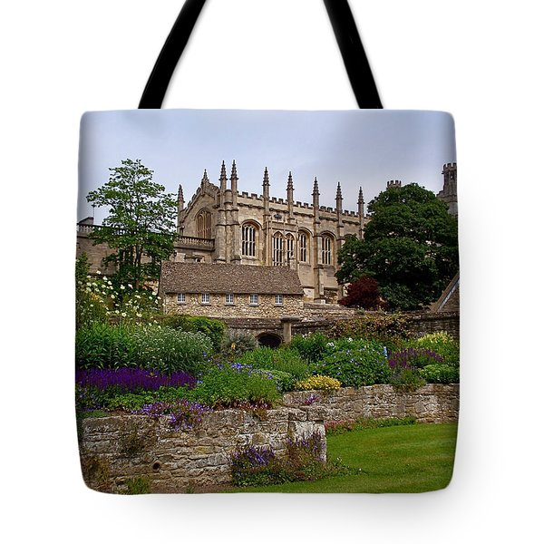 Christ Church In Spring Tote Bag by Rona Black