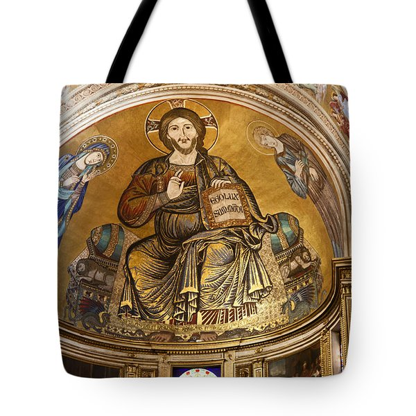 Christ in Majesty  Pisa duomo Tote Bag by Liz Leyden