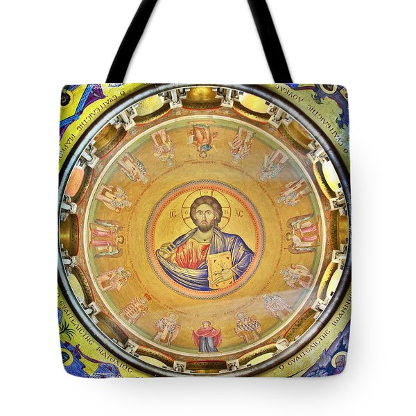 Christ Pantocrator -- Church Of The Holy Sepulchre Tote Bag by Stephen Stookey