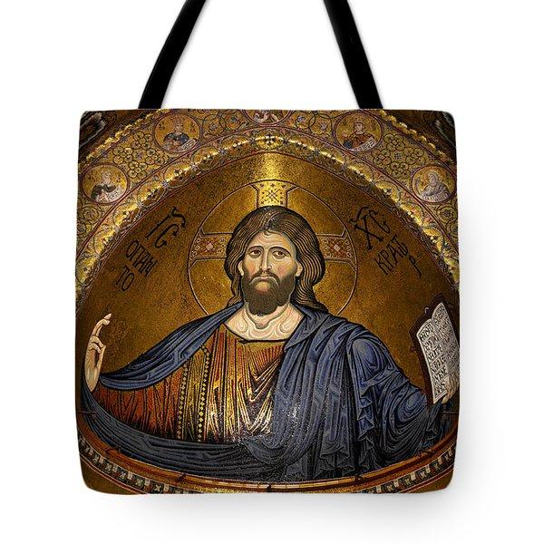 Christ Pantocrator Mosaic Tote Bag by RicardMN Photography