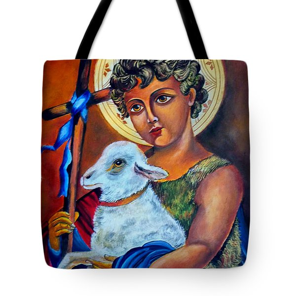Christ The Good Shepherd  Tote Bag by Ryszard Sleczka