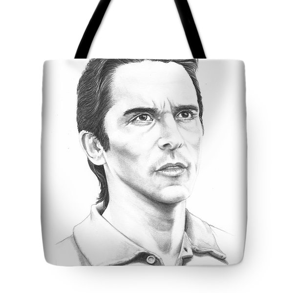 Christian Bale Tote Bag by Murphy Elliott