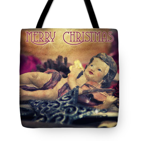 Christmas Angel II Tote Bag by Angela Doelling AD DESIGN Photo and PhotoArt