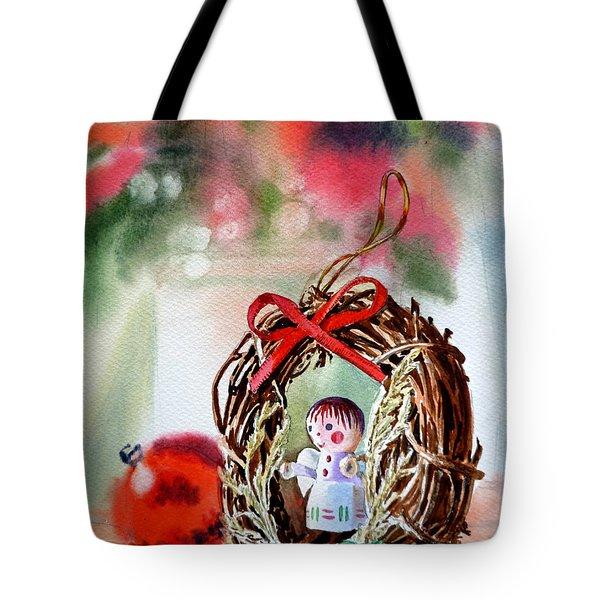 Christmas Angel Tote Bag by Irina Sztukowski