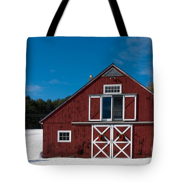 Christmas Barn Tote Bag by Edward Fielding