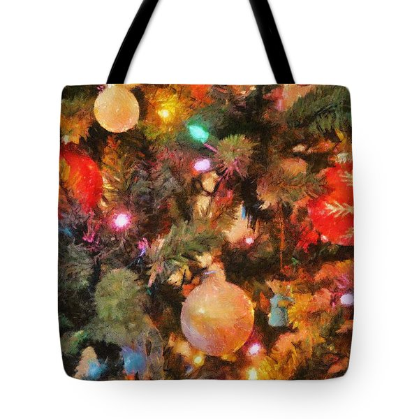 Christmas Branches Tote Bag by Jeff Kolker