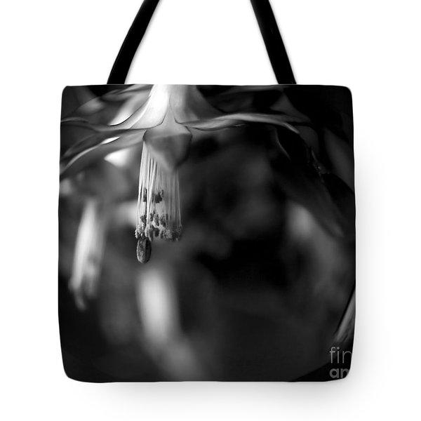 Christmas Cactus Tote Bag by Theresa Tahara
