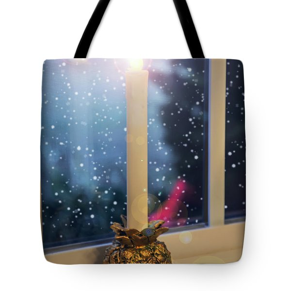 Christmas Candle Tote Bag by Brian Wallace