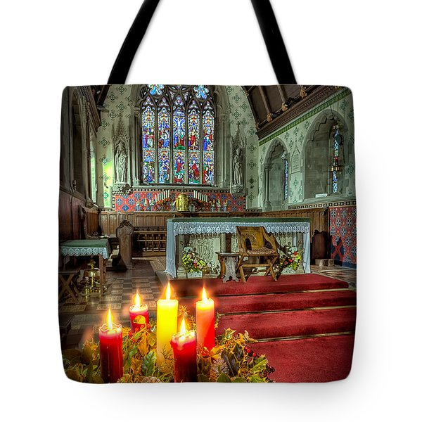 Christmas Candles Tote Bag by Adrian Evans