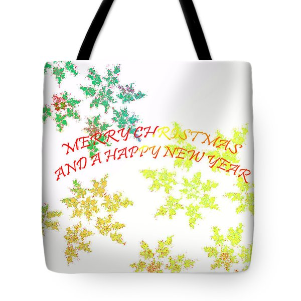 Christmas Card I Tote Bag by Tatjana Popovska