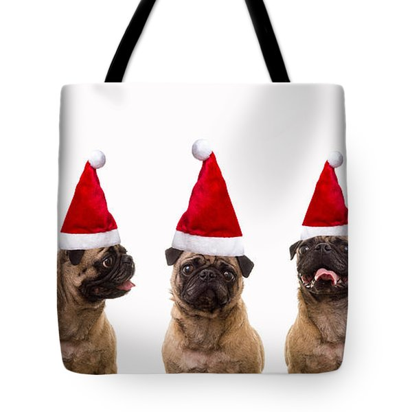 Christmas Caroling Dogs Tote Bag by Edward Fielding