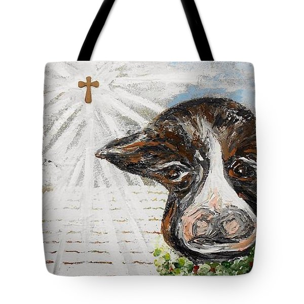 Christmas Cow - Oh to Have Been There... Tote Bag by Eloise Schneider