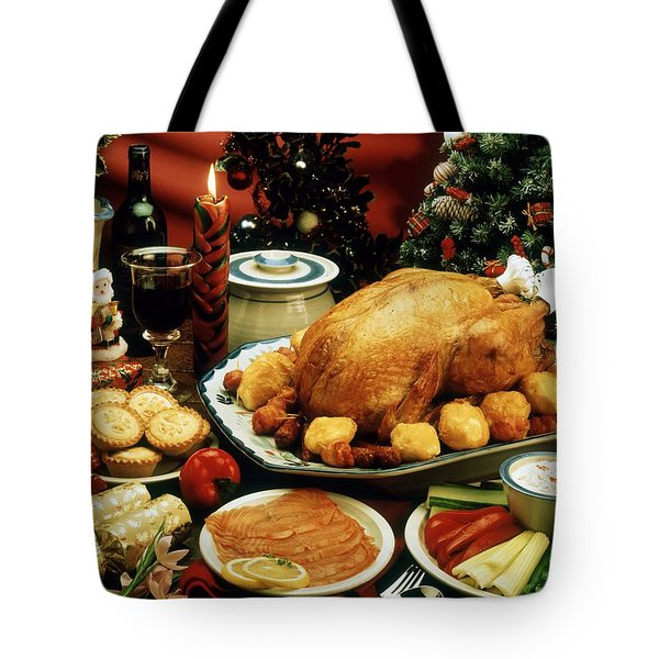Christmas Dinner Tote Bag by The Irish Image Collection