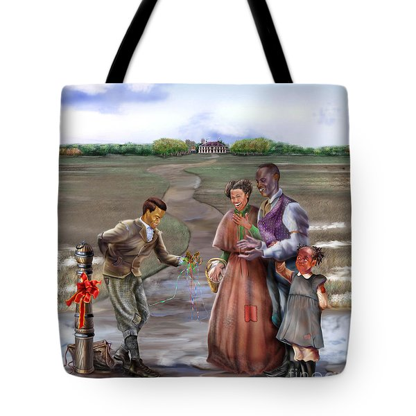 Christmas Gift - An Antebellum Christmas Tote Bag by Reggie Duffie