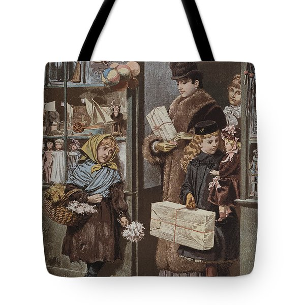 Christmas Gifts Tote Bag by Adrien Emmanuel Marie