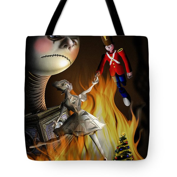 Christmas greeting card III Tote Bag by Alessandro Della Pietra