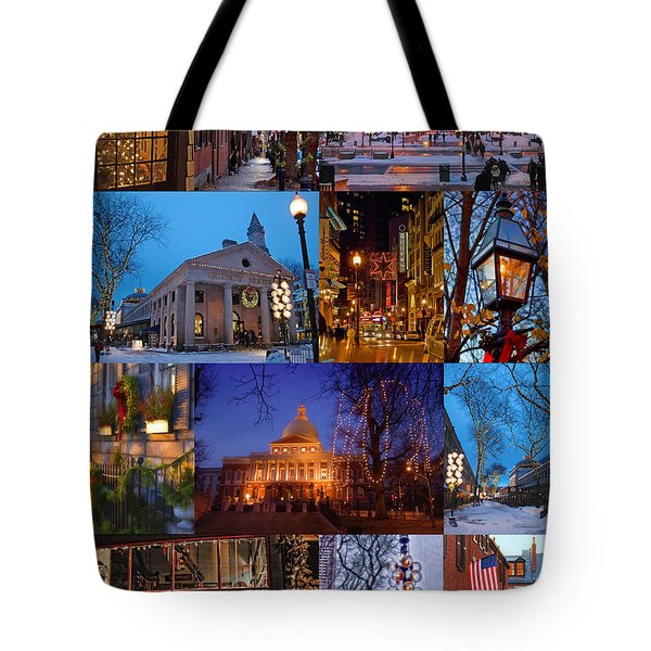 Christmas In Boston Tote Bag by Joann Vitali