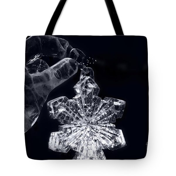 Christmas In Ice Tote Bag by Sharon Mau