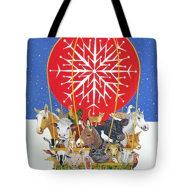 Christmas Journey Oil On Canvas Tote Bag by Pat Scott