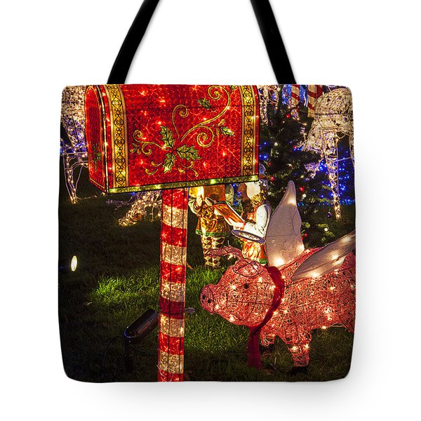 Christmas Mailbox Tote Bag by Garry Gay