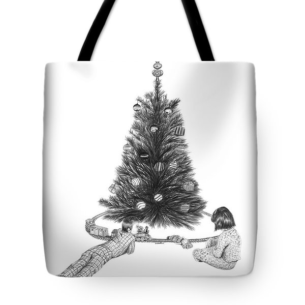 Christmas Morning Play  Tote Bag by Peter Piatt
