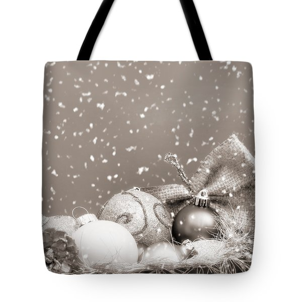 Christmas Ornaments Tote Bag by Wim Lanclus