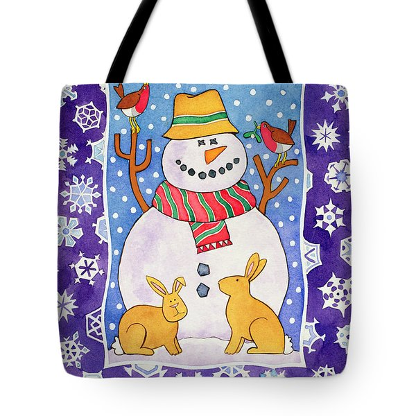 Christmas Snowflakes Tote Bag by Cathy Baxter