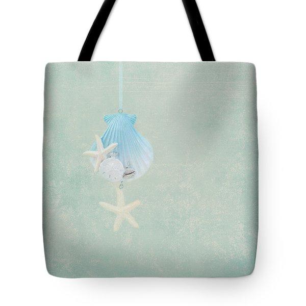 Christmas Starfish Tote Bag by Kim Hojnacki