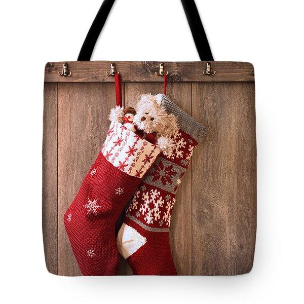 Christmas Stockings Tote Bag by Amanda And Christopher Elwell