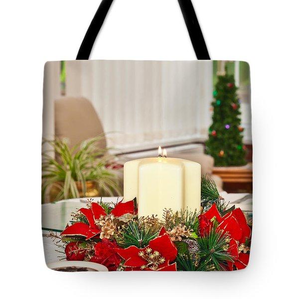 Christmas table Tote Bag by Tom Gowanlock
