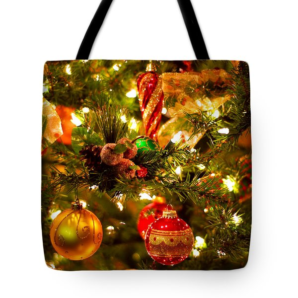Christmas tree background Tote Bag by Elena Elisseeva