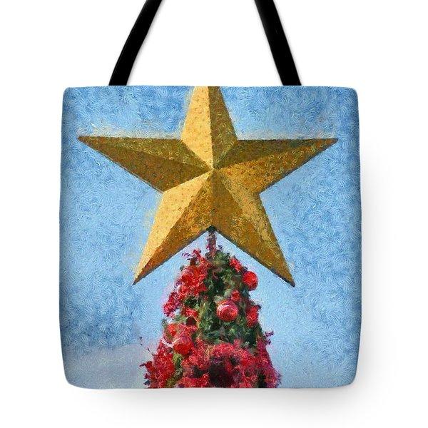 Christmas tree Tote Bag by George Atsametakis