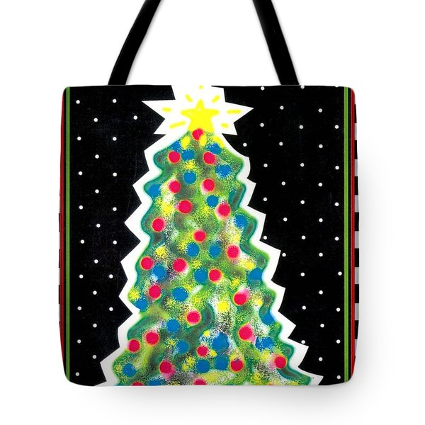 Christmas Tree Polkadots Tote Bag by Genevieve Esson