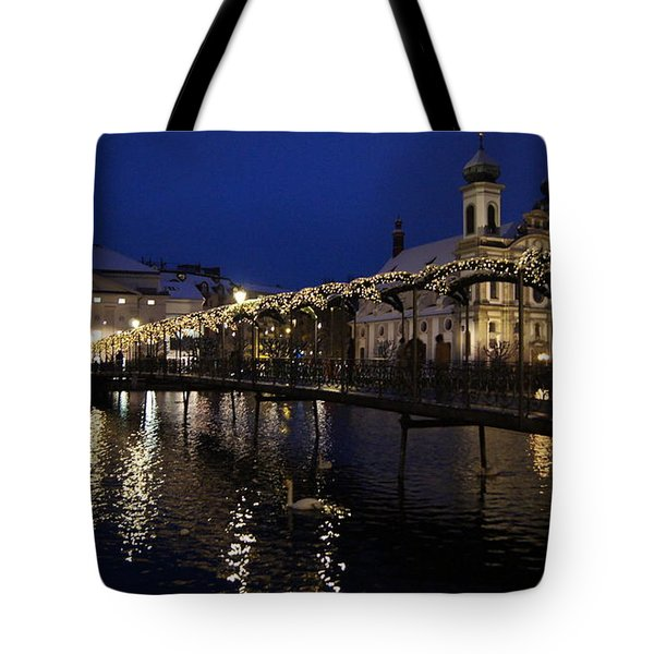 Christmastime In Lucerne Tote Bag by Liz Naepflin