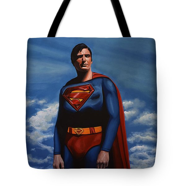 Christopher Reeve as Superman Tote Bag by Paul  Meijering