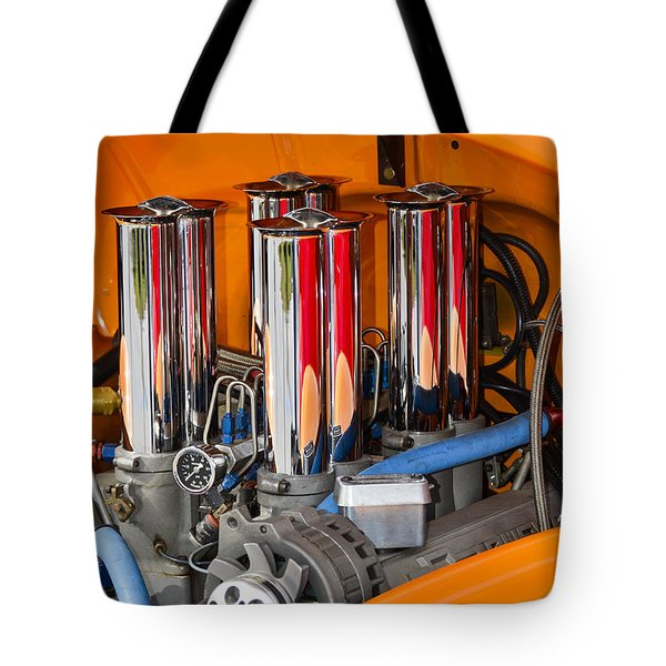 Chrome Colored Stacks Tote Bag by Carolyn Marshall