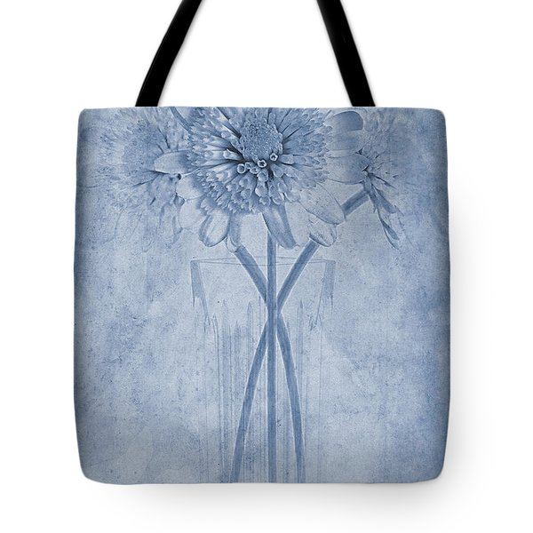 Chrysanthemum Cyanotype Tote Bag by John Edwards