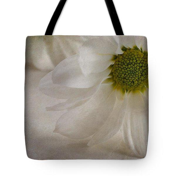 Chrysanthemum Textures Tote Bag by John Edwards