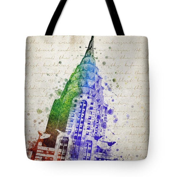 Chrysler Building Tote Bag by Aged Pixel