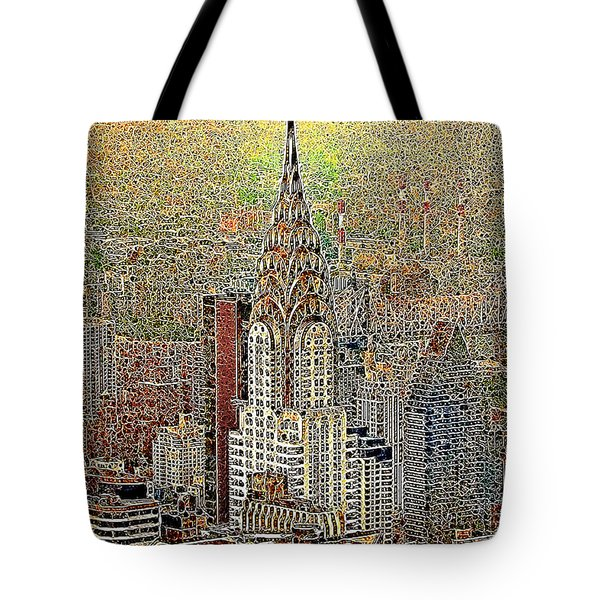 Chrysler Building New York City 20130425 Tote Bag by Wingsdomain Art and Photography