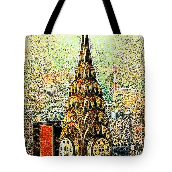 Chrysler Building New York City 20130503 Tote Bag by Wingsdomain Art and Photography