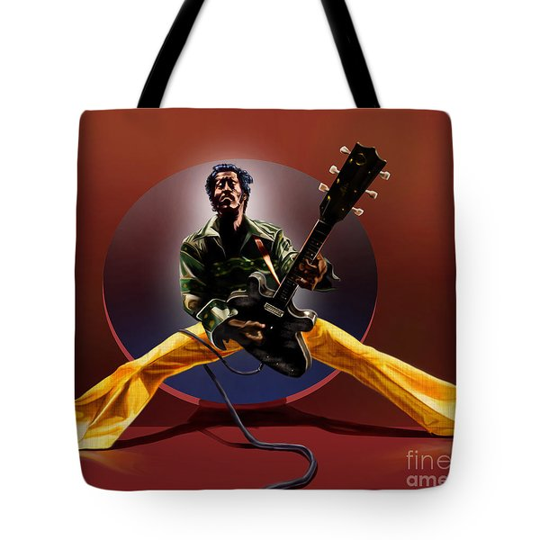 Chuck Berry - This Is How We Do It Tote Bag by Reggie Duffie