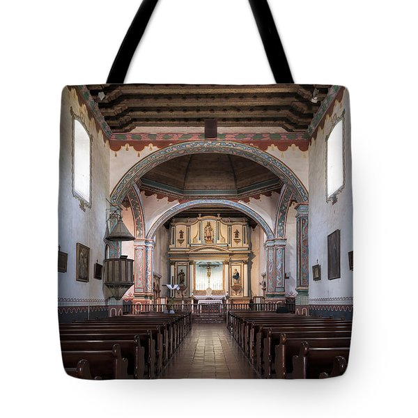 Church At Mission San Luis Rey Tote Bag by Sandra Bronstein