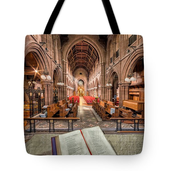 Church Bible Tote Bag by Adrian Evans